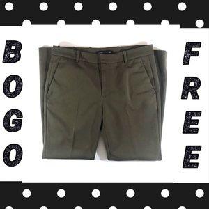 Zara Olive Green Slim Fit Trouser Pants (8)